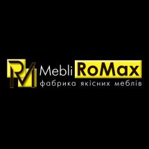 Логотип MebliRoMax, магазин меблів м. Вінниця