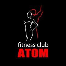 Логотип Атом, фітнес клуб м. Вінниця