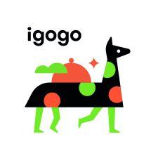 Логотип Igogo, доставка їжі м. Вінниця
