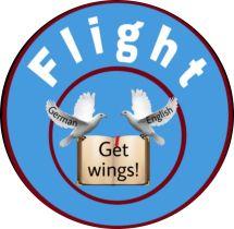Логотип Flight, курси іноземних мов м. Вінниця