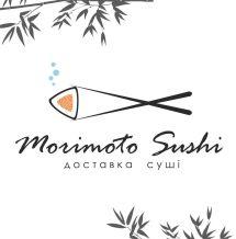 Логотип Morimoto Sushi, доставка суші і ролів м. Вінниця