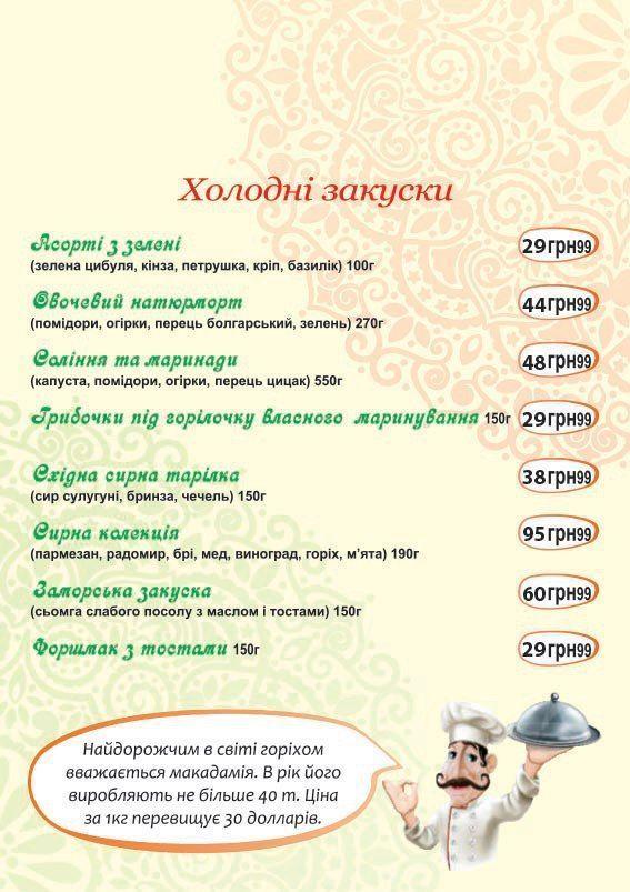 Меню Ізюм, ресторан - сторінка 10