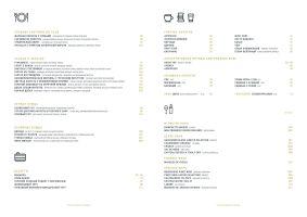 Меню Frebule, винний ресторан - сторінка 1
