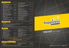 Меню Happiness, семейное клуб-кафе - страница 1