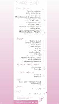 Меню Sweet family, концептуальне кафе-кондитерська - сторінка 1