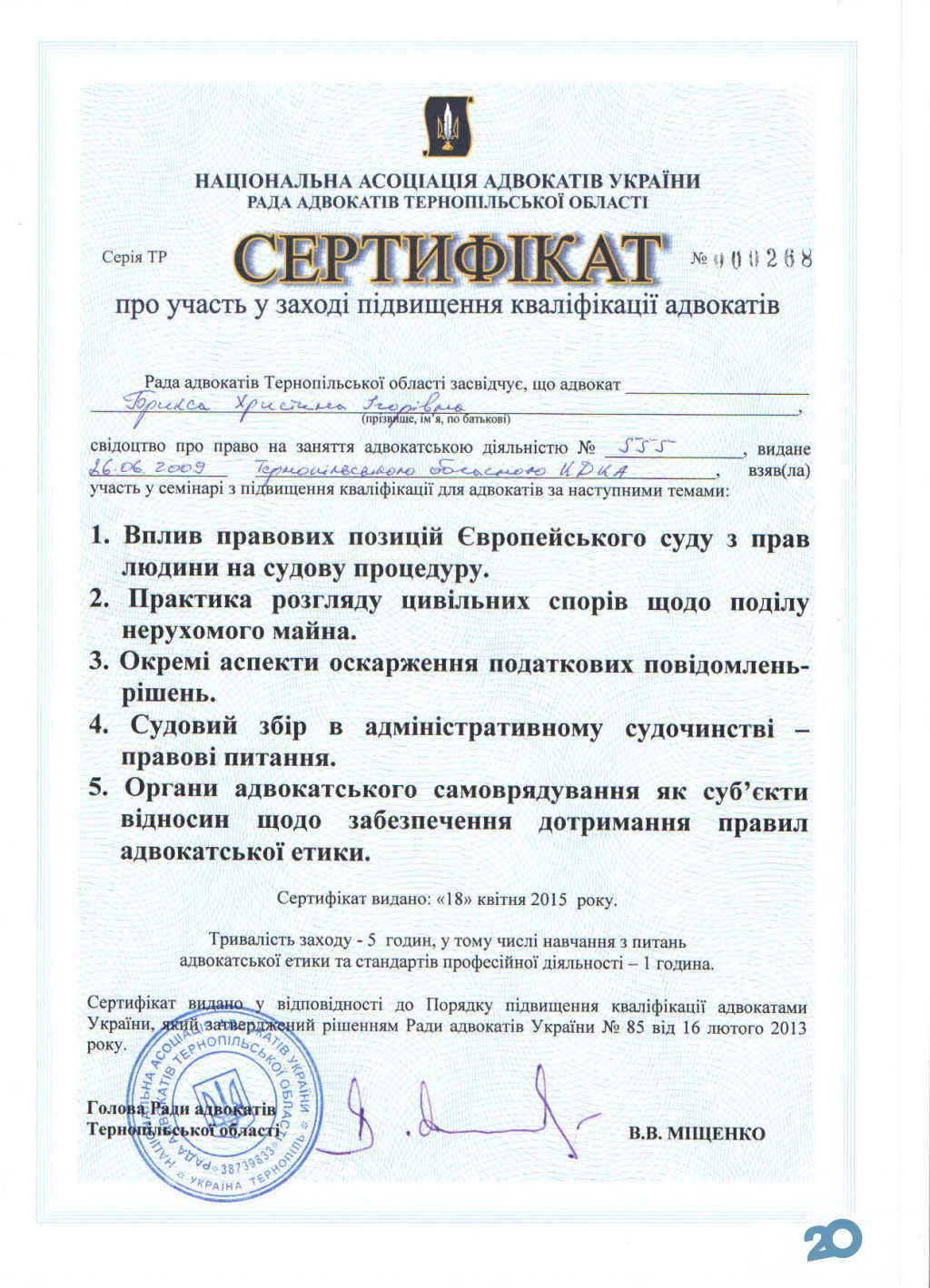 Адвокат Брикса Христина - фото 4
