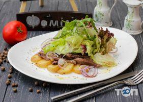 Фамилия, ресторан - мясной салат с языком